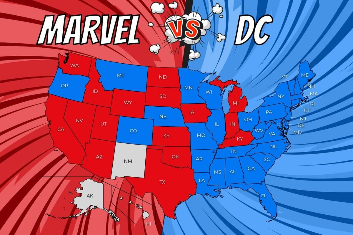 The Most Popular Comic Book Universe in Each State